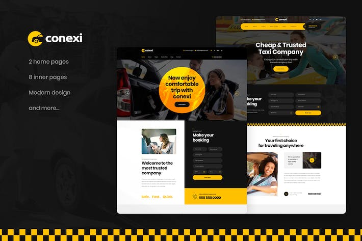 Thumbnail for Conexi - Online Taxi Booking Service PSD Template