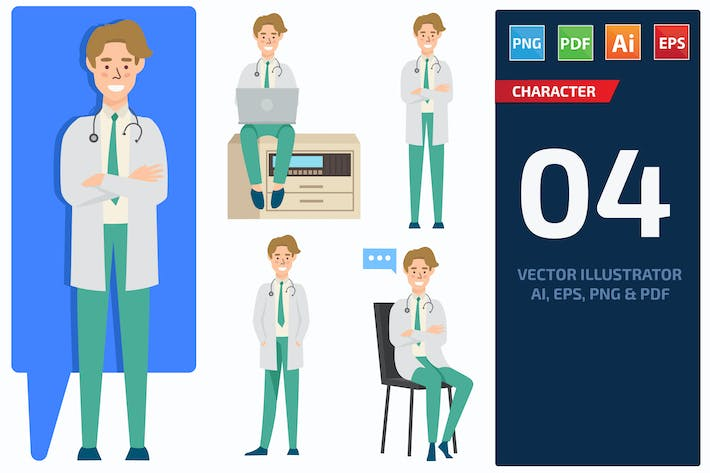 Thumbnail for Doctor Character Set 1