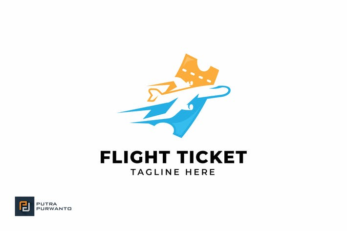 Thumbnail for Flight Ticket - Logo Template