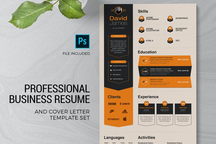 Thumbnail for Professional Resume & Cover Letter Template
