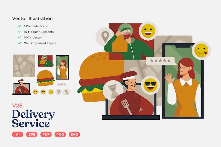 Thumbnail for Culinary Illustration: Food Delivery Service