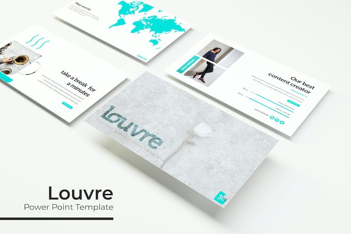 Thumbnail for Louvre - Powerpoint Template