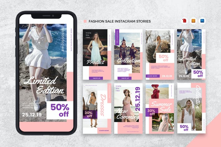 Thumbnail for Fashion Instagram Stories AI and PSD