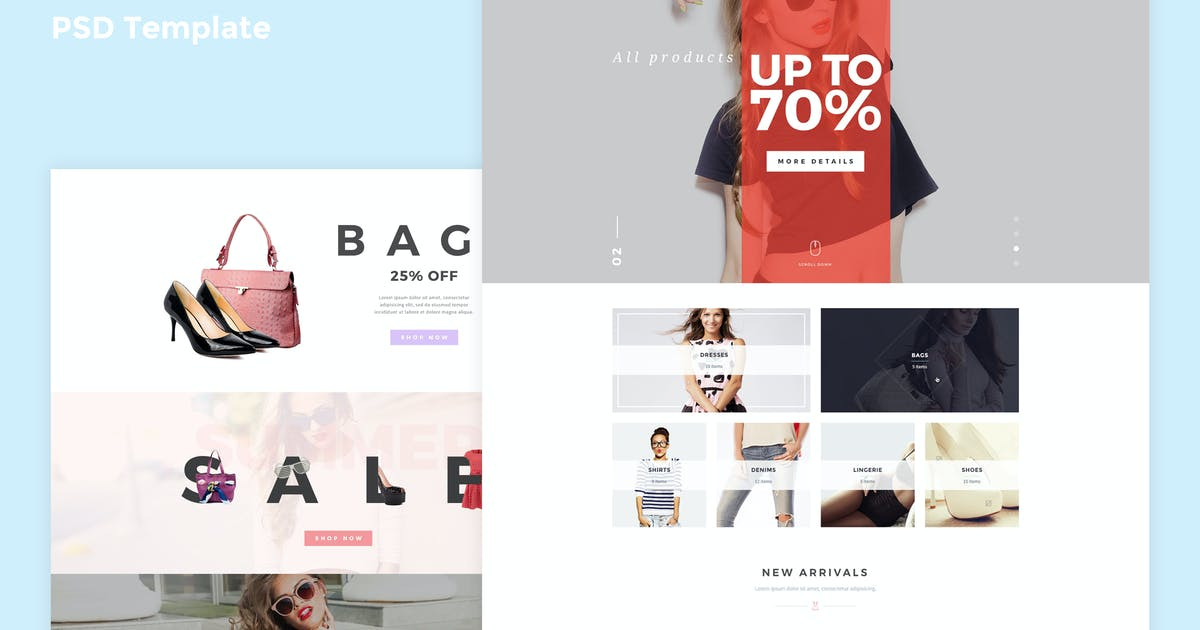 Yucca - Fashion Store PSD Template by spartakvee2511