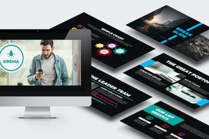 Cover Image For Krema : Creative Google Slides Template