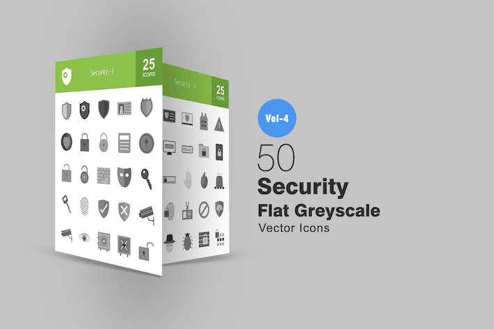 Thumbnail for 50 Security Greyscale Icons