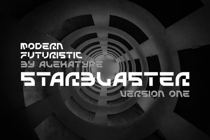 Thumbnail for STARBLASTER - Modern Futuristic Font