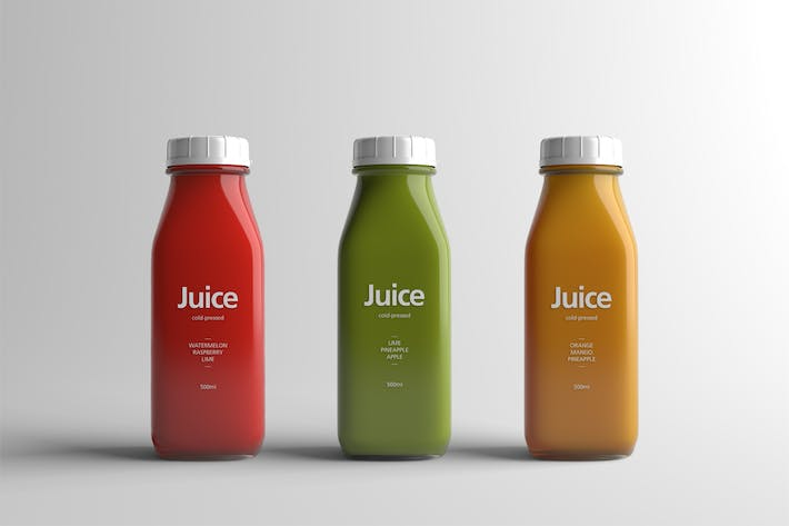 Thumbnail for Juice Bottle Packaging Mock-Up