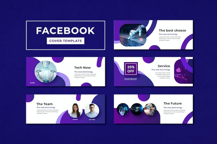 Thumbnail for Facebook Cover Template Technology