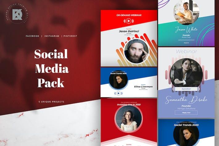 Thumbnail for Webinar Live Stream Social Media Pack