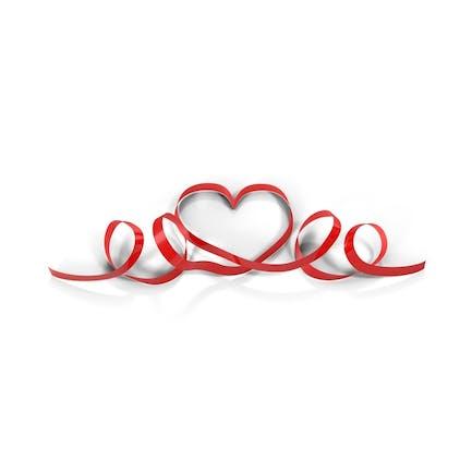 Ribbon Herzen Schlaufen