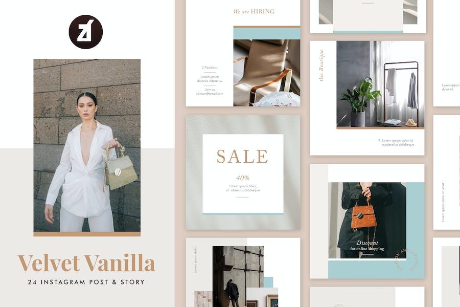 Velvet vanilla social media graphic templates