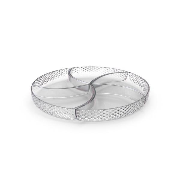 Thumbnail for Crystal 5 Compartment Circle Bowl