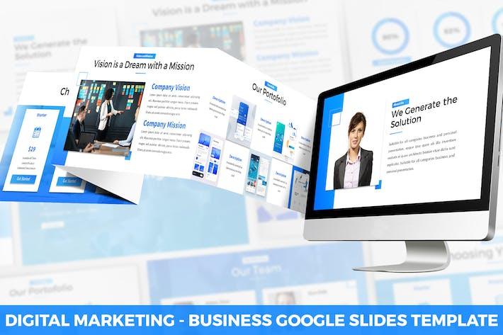 Thumbnail for Digital Marketing Google Slides Template