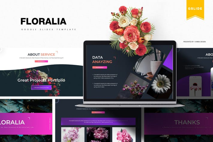 Cover Image For Floralia | Google Slides Template