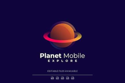 Planet Gradient Logo