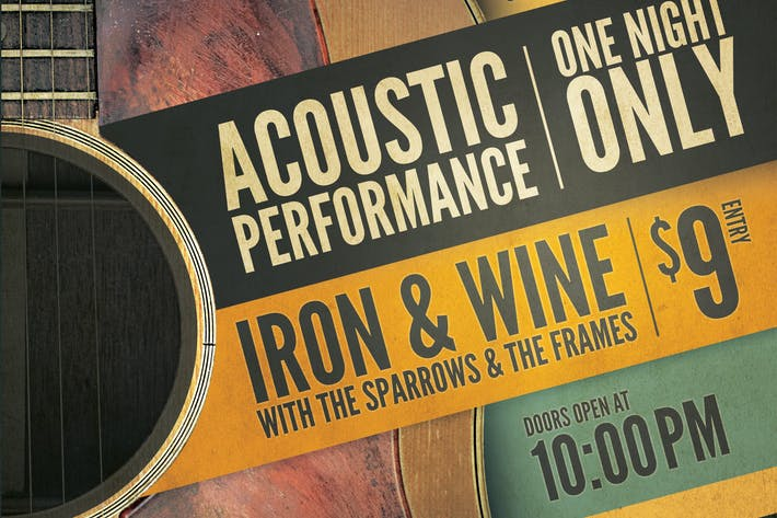 Thumbnail for Acoustic Event Flyer/Poster Template