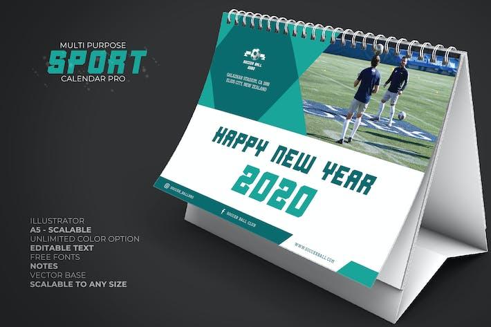 Thumbnail for Calendrier Sport 2020 Bureau Pro
