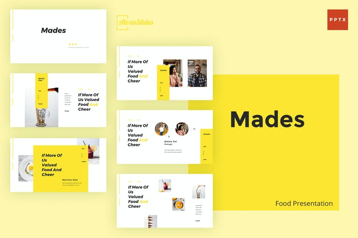 Thumbnail for Mades - Food Powerpoint Template