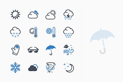 Wetter Icons - Blue Series