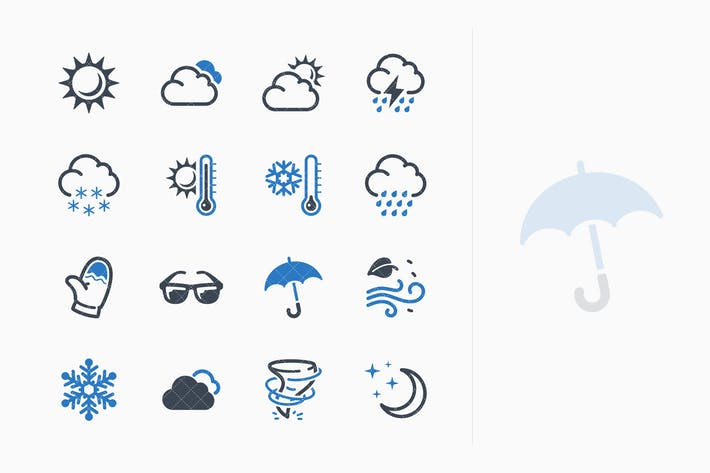 Thumbnail for Wetter Icons - Blue Series