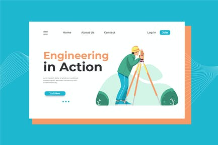 Engineering in Action Landing Page Illustration