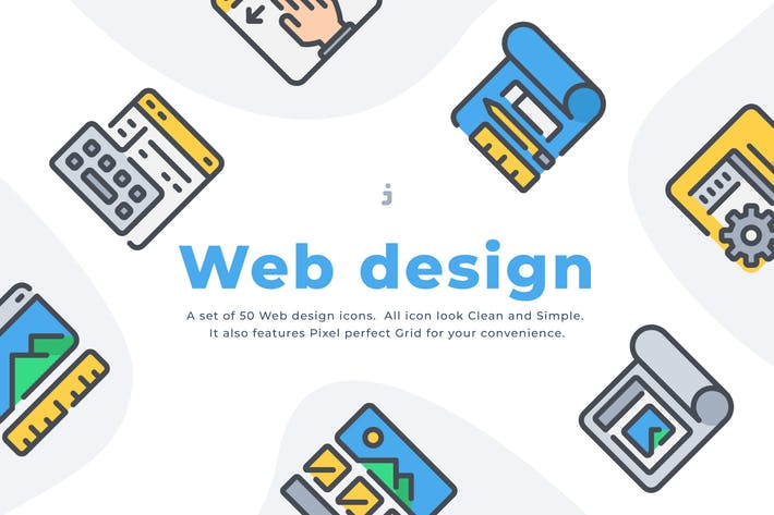 Thumbnail for 50 Web design and Development icon set