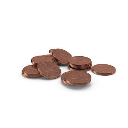 Euro 2 Cent Coin Pile