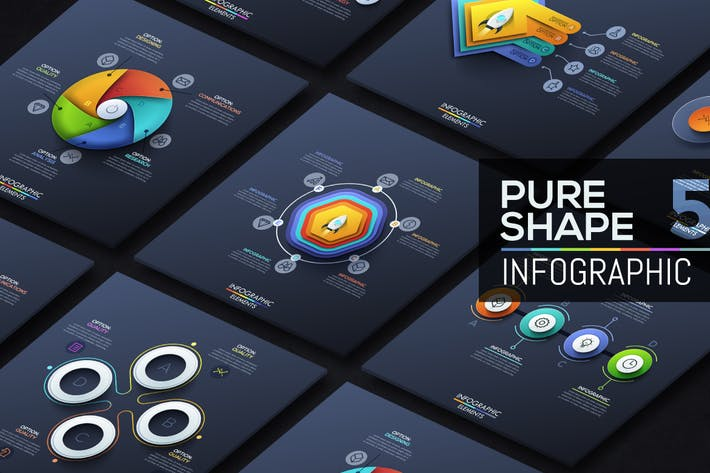Thumbnail for Pure Shape Infographics. Part 5