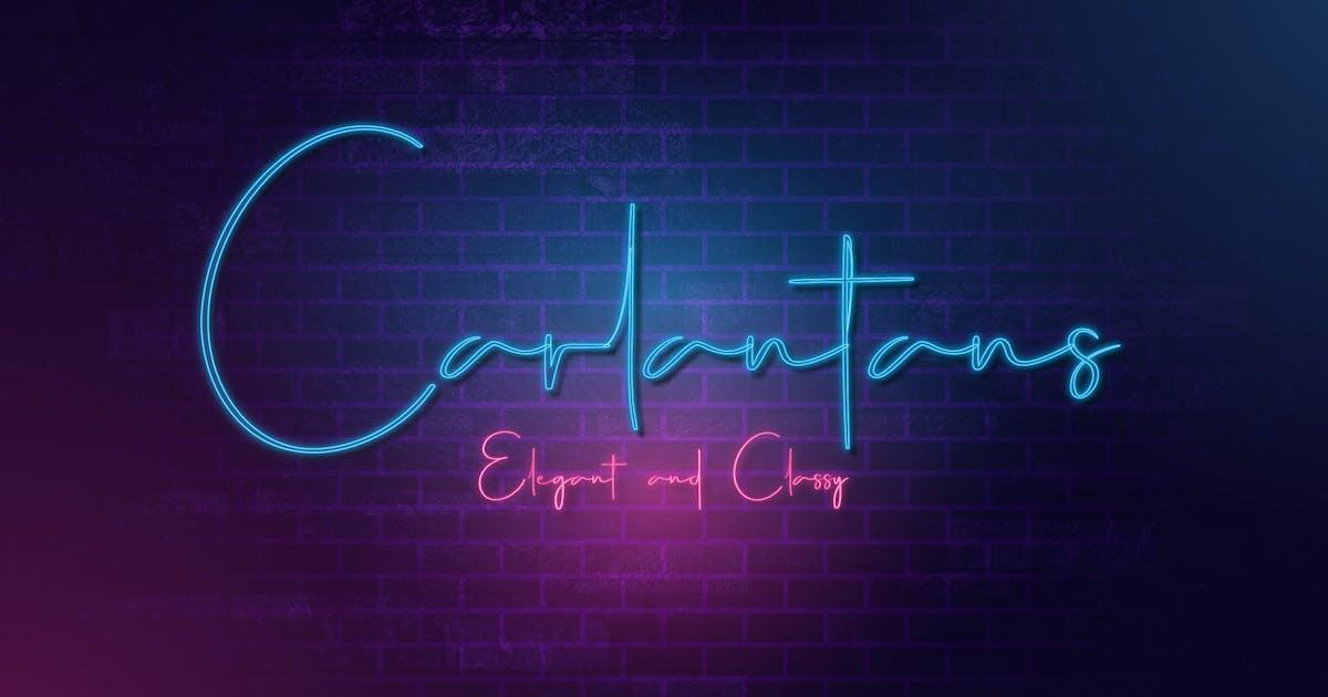 Download Carlantans - Elegant Signature Font by naulicrea