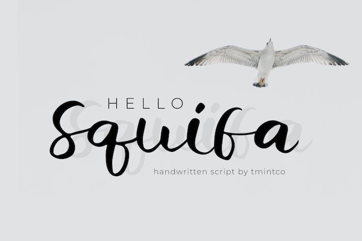 Thumbnail for Squifa - Handwritten Font