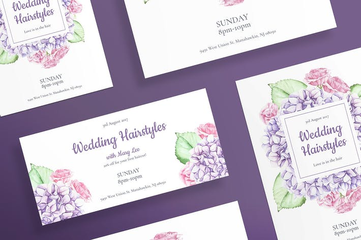 Thumbnail for Wedding Hairstyle Flyer and Poster Template