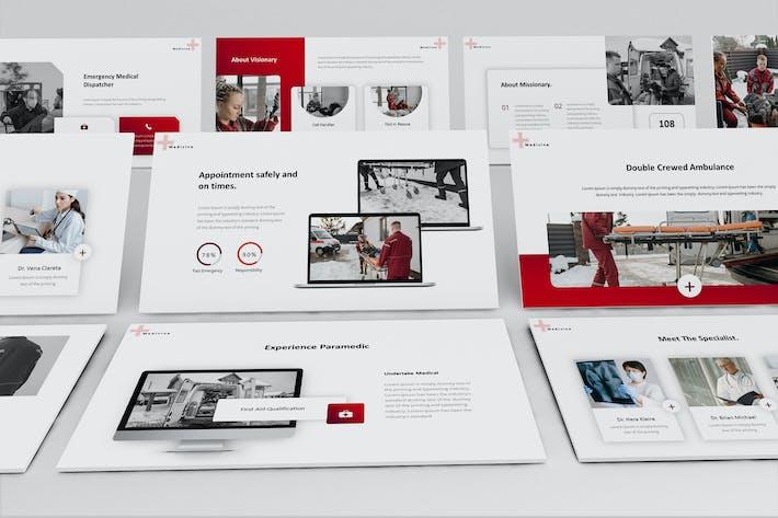 Ambulance Center Keynote Presentation Template