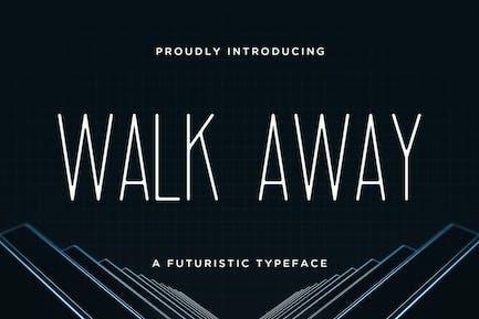 Walk Away – Futuristic Font