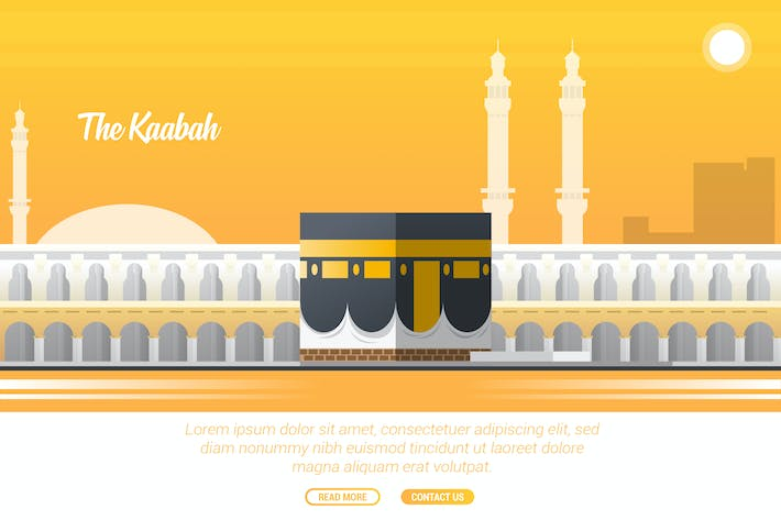 Thumbnail for The Kaabah - Vector Landscape & Building