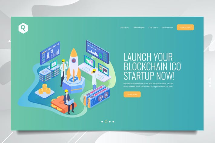Thumbnail for Bitcoin Web Header PSD & Vector Template Vol. 03