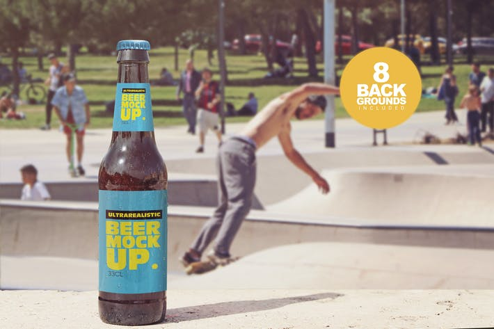 Thumbnail for Front Backgrounds Beer Mockup