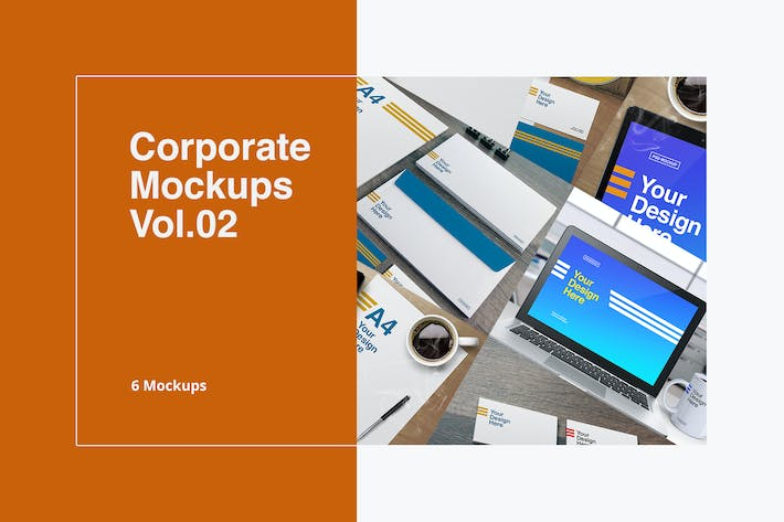 Thumbnail for Corporate Mockups Vol.02