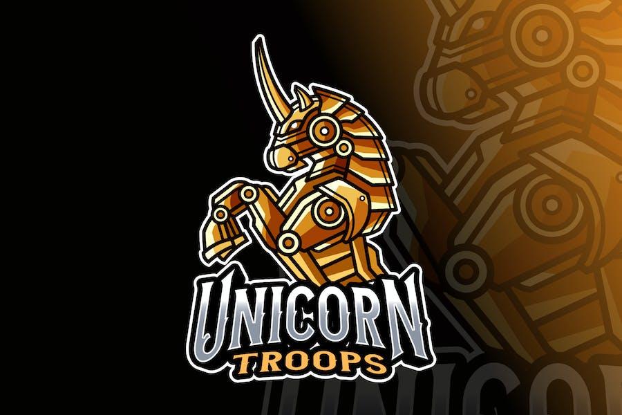 Unicron Robot Logo Template