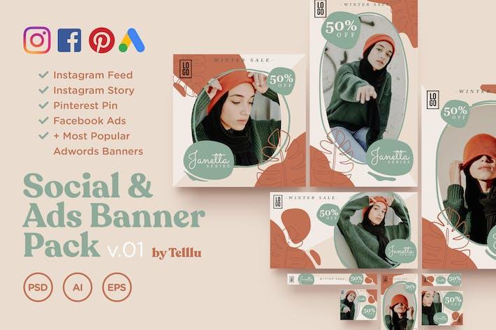 Thumbnail for Social & Ads Banner Pack v01