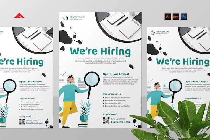 Thumbnail for Customer Service Job Hiring Flyer Advertisement