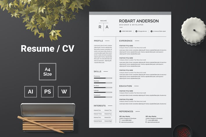 Thumbnail for Resume Template 86