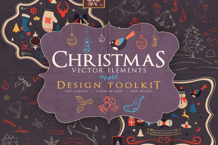 Thumbnail for Christmas Vector Elements Toolkit