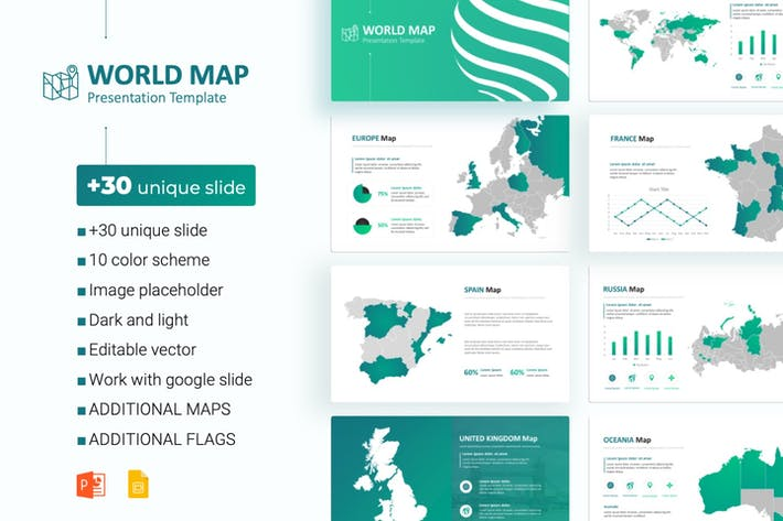 Thumbnail for World Maps powerpoint Template
