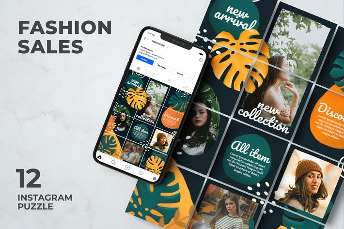 Fashion Sales - Tropical Instagram Puzzle
