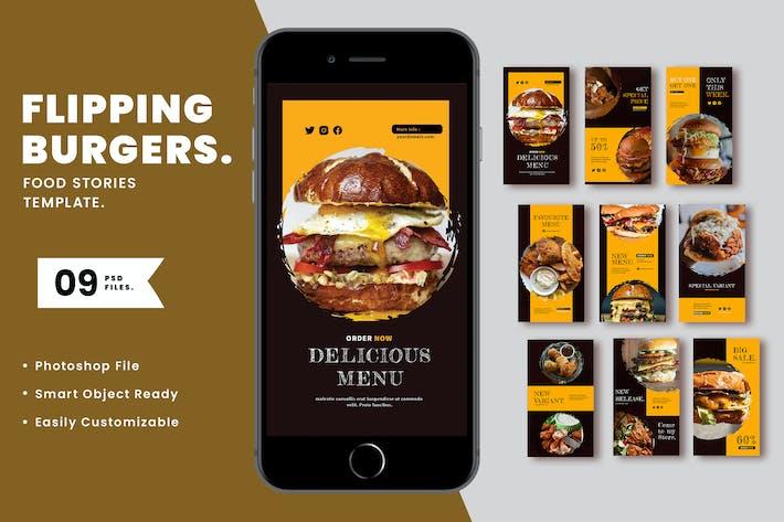 Thumbnail for Flipping Burger Instagram Template