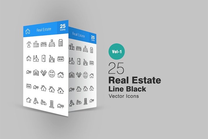 Thumbnail for 25 Real Estate Line Icons