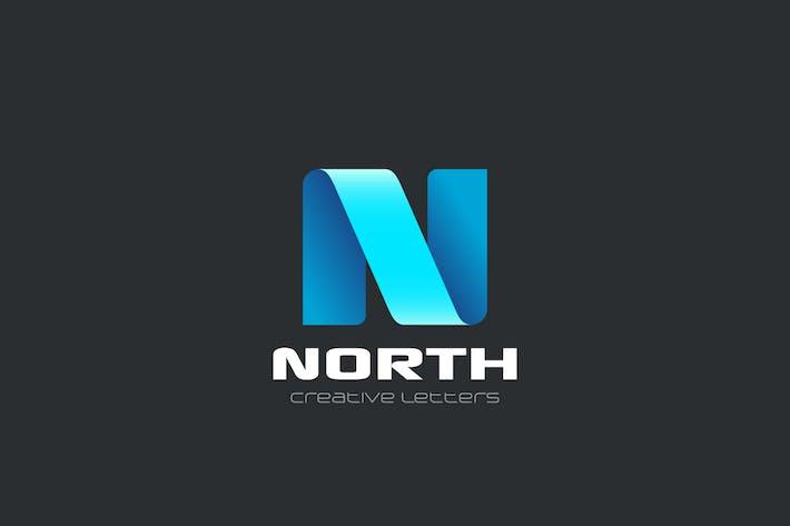 Thumbnail for Logo Letter N Ribbon style