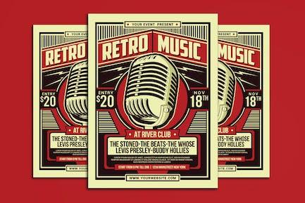 Retro Music Party Flyer