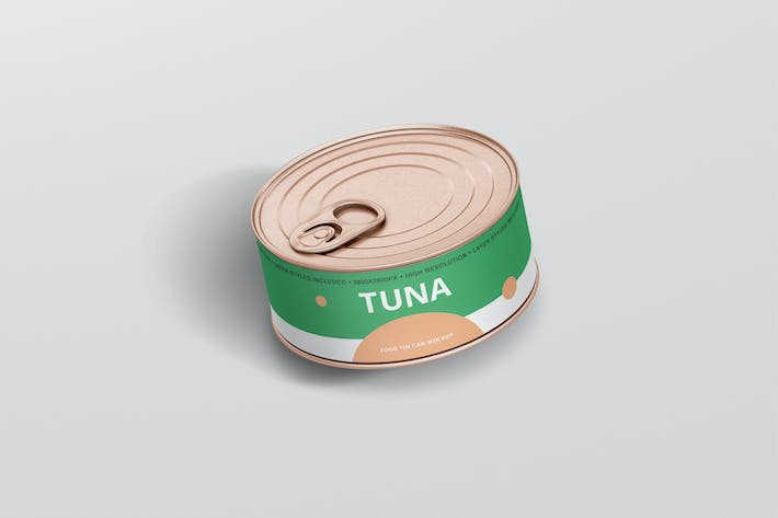 Thumbnail for Food Tin Can Mockup Small Size